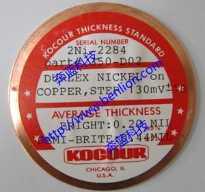 2Ni/Cu铜上镀双层镍标准片350-D02